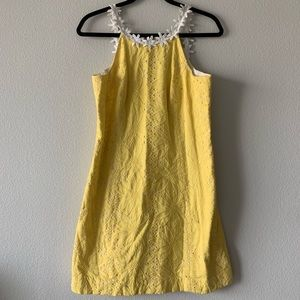 LILY PULITZER/ yellow flower brunch dress